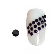 20 strasseenjes voor nagels zwart SS5