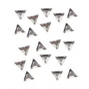 20 strassjes voor de nagels driehoek zilverkleurig 3 mm