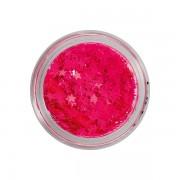Glitter voor nagels neon pink stars