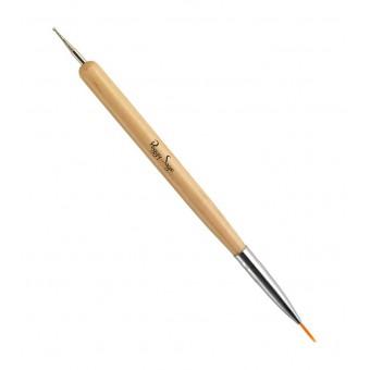 2-in1 nail art penseel en marmer tool