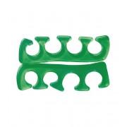 1 paar tenenspreiders silicone groen