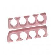 1 paar tenenspreiders silicone - roze